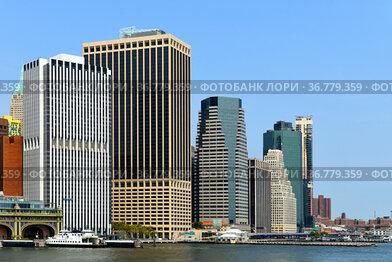 Financial District of Lower Manhattan, neighborhood on southern tip of Manhattan island in New York City