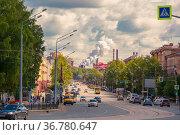Russia, Nizhny Tagil, July 2021: Historical center of Nizhny Tagil on a summer sunny day. Редакционное фото, фотограф Акиньшин Владимир / Фотобанк Лори