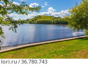 Panoramic view of Nizhny Tagil from the slope of Fox Mountain on a summer day. Стоковое фото, фотограф Акиньшин Владимир / Фотобанк Лори