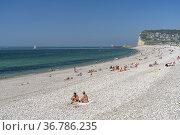 Strand und Steilküste von Fécamp, Normandie, Frankreich | Beach and... Стоковое фото, фотограф Peter Schickert / age Fotostock / Фотобанк Лори