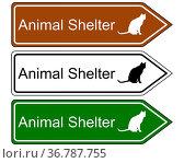 Schild Animal Shelter. Стоковое фото, фотограф Zoonar.com/lantapix / easy Fotostock / Фотобанк Лори