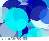 Abstract minimalist blue illustration with circles useful as a background... Стоковое фото, фотограф Zoonar.com/Claudio Divizia / easy Fotostock / Фотобанк Лори