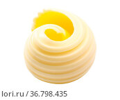 Butter or spread curl roll. Clipping path. Стоковое фото, фотограф Zoonar.com/Max Tat / easy Fotostock / Фотобанк Лори