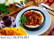 Turkish Food Hunkar Begendi. Стоковое фото, фотограф Яков Филимонов / Фотобанк Лори