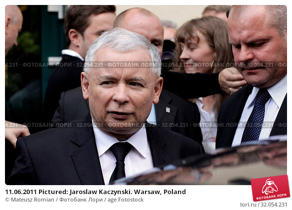 11.06.2011 Pictured: Jaroslaw Kaczynski. Warsaw, Poland. Редакционное фото, фотограф Mateusz Romian / age Fotostock / Фотобанк Лори