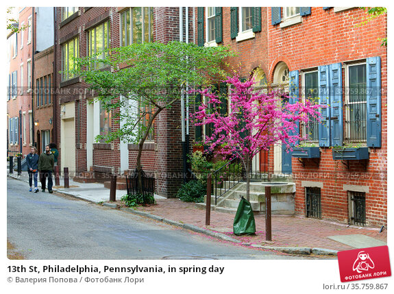 13th St, Philadelphia, Pennsylvania, in spring day. Редакционное фото, фотограф Валерия Попова / Фотобанк Лори
