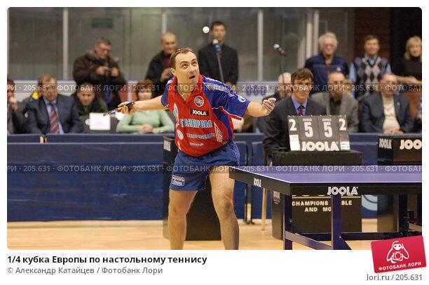 1/4 кубка Европы по настольному теннису, фото № 205631, снято 5 января 2008 г. (c) Александр Катайцев / Фотобанк Лори