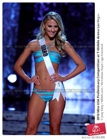 2016 Miss USA Preliminary Competition at T-Mobile Arena Las Vegas Featuring: Miss Idaho, Sydney Blue Halper Where: Las Vegas, Nevada, United States When: 01 Jun 2016 Credit: Judy Eddy/WENN.com, фото № 26933495, снято 1 июня 2016 г. (c) age Fotostock / Фотобанк Лори