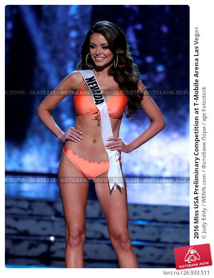 2016 Miss USA Preliminary Competition at T-Mobile Arena Las Vegas Featuring: Miss Nevada, Emelina Adams Where: Las Vegas, Nevada, United States When: 01 Jun 2016 Credit: Judy Eddy/WENN.com, фото № 26933511, снято 1 июня 2016 г. (c) age Fotostock / Фотобанк Лори