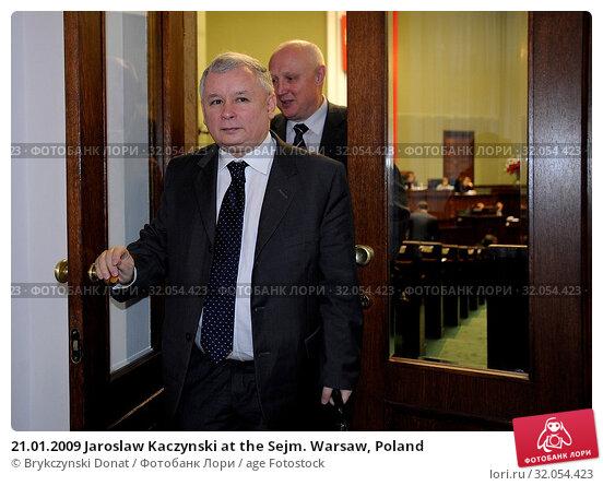 21.01.2009 Jaroslaw Kaczynski at the Sejm. Warsaw, Poland. Редакционное фото, фотограф Brykczynski Donat / age Fotostock / Фотобанк Лори