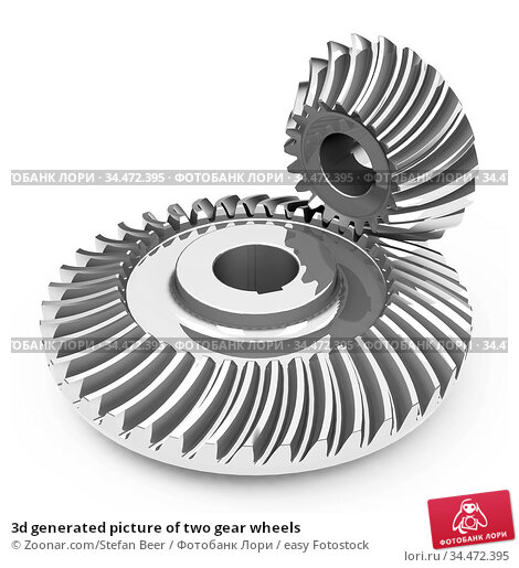 3d generated picture of two gear wheels. Стоковое фото, фотограф Zoonar.com/Stefan Beer / easy Fotostock / Фотобанк Лори