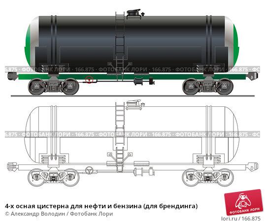 4-х осная цистерна для нефти и бензина (для брендинга), иллюстрация № 166875 (c) Александр Володин / Фотобанк Лори