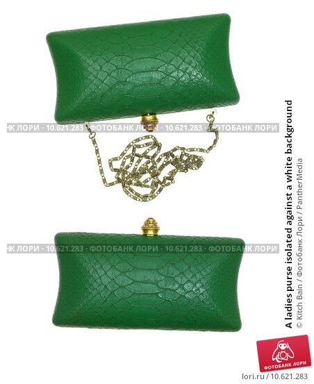 A ladies purse isolated against a white background. Стоковое фото, фотограф Kitch Bain / PantherMedia / Фотобанк Лори