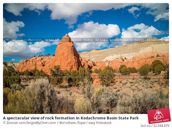 Купить «A spectacular view of rock formation in Kodachrome Basin State Park», фото № 32544875, снято 7 декабря 2019 г. (c) easy Fotostock / Фотобанк Лори