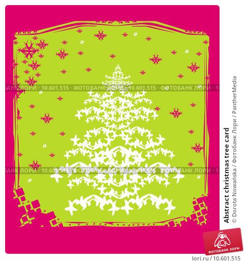 Abstract christmas tree card. Стоковая иллюстрация, иллюстратор Dorota Nowańska / PantherMedia / Фотобанк Лори
