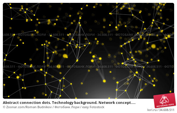 Abstract connection dots. Technology background. Network concept.... Стоковое фото, фотограф Zoonar.com/Roman Budnikov / easy Fotostock / Фотобанк Лори