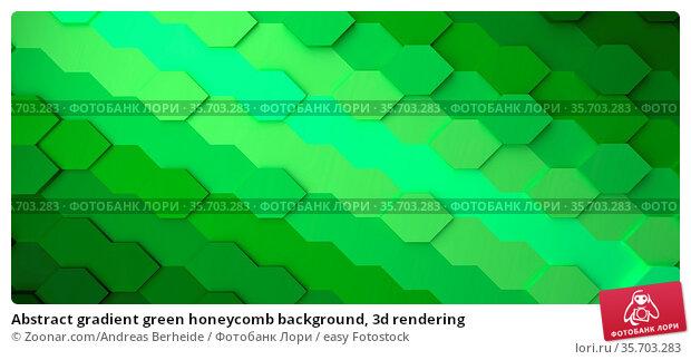 Abstract gradient green honeycomb background, 3d rendering. Стоковое фото, фотограф Zoonar.com/Andreas Berheide / easy Fotostock / Фотобанк Лори