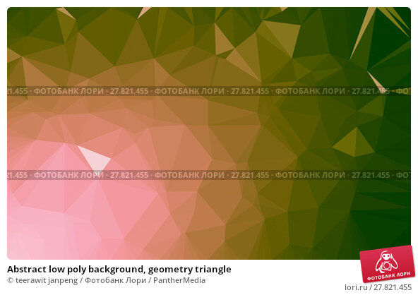 Купить «Abstract low poly background, geometry triangle», фото № 27821455, снято 24 февраля 2018 г. (c) PantherMedia / Фотобанк Лори