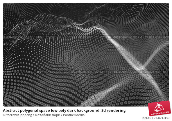 Купить «Abstract polygonal space low poly dark background, 3d rendering», фото № 27821439, снято 22 февраля 2018 г. (c) PantherMedia / Фотобанк Лори