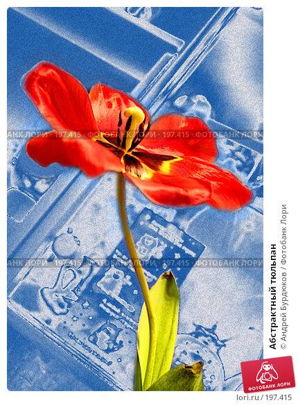 Купить «Абстрактный тюльпан», фото № 197415, снято 10 марта 2006 г. (c) Андрей Бурдюков / Фотобанк Лори