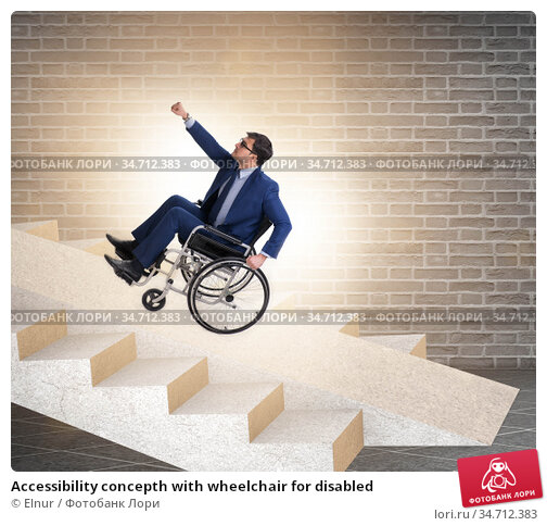Accessibility concepth with wheelchair for disabled. Стоковое фото, фотограф Elnur / Фотобанк Лори