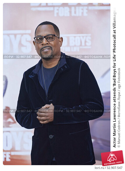 Actor Martin Lawrence attends 'Bad Boys for Life' Photocall at Villamagna Hotel on January 8, 2020 in Madrid, Spain. Редакционное фото, фотограф Manuel Cedron / age Fotostock / Фотобанк Лори