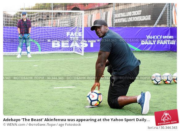 Купить «Adebayo 'The Beast' Akinfenwa was appearing at the Yahoo Sport Daily Fantasy Deadline Day Dugout event at Boxpark, Shoreditch. Featuring: Adebayo Akinfenwa...», фото № 30344343, снято 31 августа 2017 г. (c) age Fotostock / Фотобанк Лори
