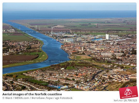 Купить «Aerial images of the Norfolk coastline Featuring: Norfolk coastline Where: Wells Next The Sea, United Kingdom When: 17 Jan 2016 Credit: Ward/WENN.com», фото № 28700523, снято 17 января 2016 г. (c) age Fotostock / Фотобанк Лори