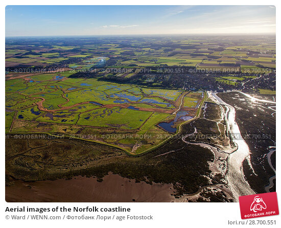 Купить «Aerial images of the Norfolk coastline Featuring: Norfolk coastline Where: Wells Next The Sea, United Kingdom When: 17 Jan 2016 Credit: Ward/WENN.com», фото № 28700551, снято 17 января 2016 г. (c) age Fotostock / Фотобанк Лори