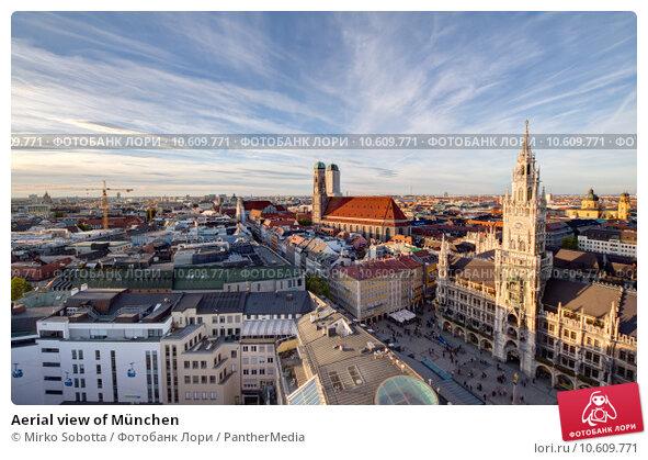 Aerial view of München. Стоковое фото, фотограф Mirko Sobotta / PantherMedia / Фотобанк Лори
