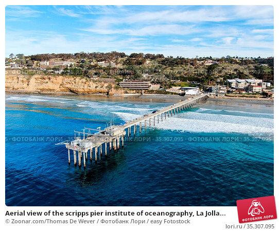 Aerial view of the scripps pier institute of oceanography, La Jolla... Стоковое фото, фотограф Zoonar.com/Thomas De Wever / easy Fotostock / Фотобанк Лори