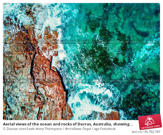 Aerial views of the ocean and rocks of Durras, Australia, showing... Стоковое фото, фотограф Zoonar.com/Leah-Anne Thompson / age Fotostock / Фотобанк Лори