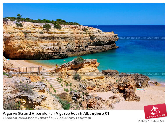 Algarve Strand Albandeira - Algarve beach Albandeira 01. Стоковое фото, фотограф Zoonar.com/LianeM / easy Fotostock / Фотобанк Лори