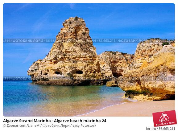 Algarve Strand Marinha - Algarve beach marinha 24. Стоковое фото, фотограф Zoonar.com/LianeM / easy Fotostock / Фотобанк Лори