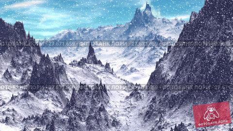 Купить «Alien Planet. Mountain. Animation. Panorama. 4K», видеоролик № 27671659, снято 10 февраля 2018 г. (c) Parmenov Pavel / Фотобанк Лори