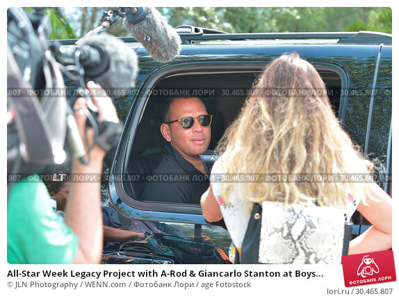 All-Star Week Legacy Project with A-Rod & Giancarlo Stanton at Boys... (2017 год). Редакционное фото, фотограф JLN Photography / WENN.com / age Fotostock / Фотобанк Лори