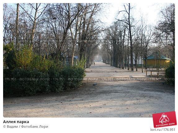 Аллея парка, фото № 176951, снято 19 декабря 2007 г. (c) Вадим / Фотобанк Лори