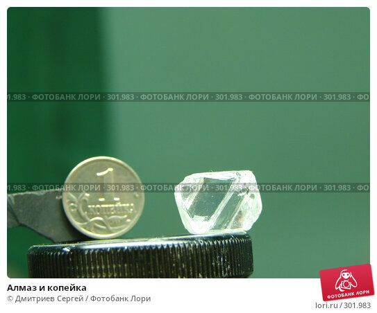 Алмаз и копейка, фото № 301983, снято 25 октября 2006 г. (c) Дмитриев Сергей / Фотобанк Лори