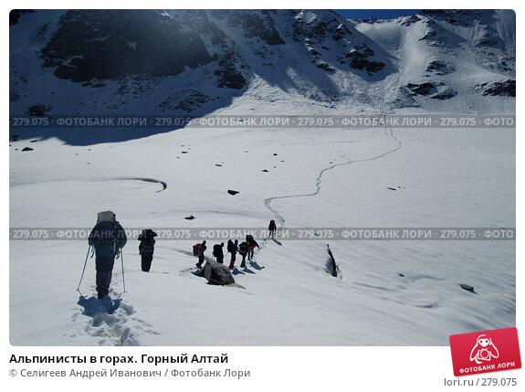 Альпинисты в горах. Горный Алтай, фото № 279075, снято 12 июля 2006 г. (c) Селигеев Андрей Иванович / Фотобанк Лори