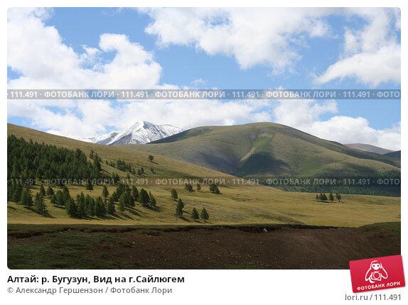 Алтай: р. Бугузун, Вид на г.Сайлюгем, фото № 111491, снято 26 июля 2006 г. (c) Александр Гершензон / Фотобанк Лори