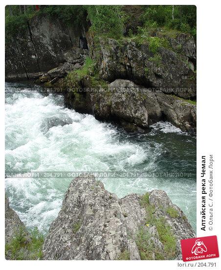 Алтайская река Чемал, фото № 204791, снято 17 июля 2004 г. (c) Ольга С. / Фотобанк Лори