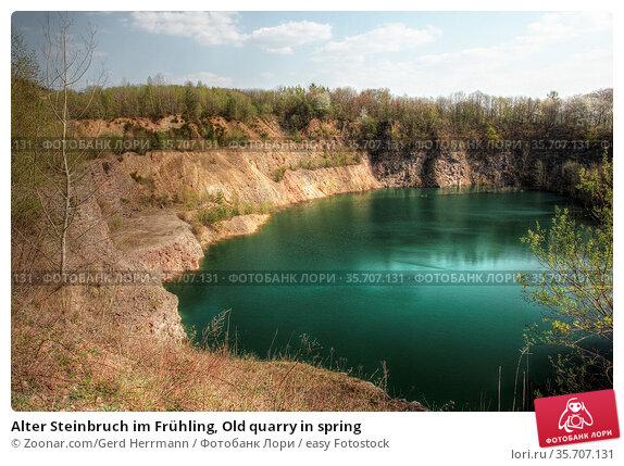 Alter Steinbruch im Frühling, Old quarry in spring. Стоковое фото, фотограф Zoonar.com/Gerd Herrmann / easy Fotostock / Фотобанк Лори