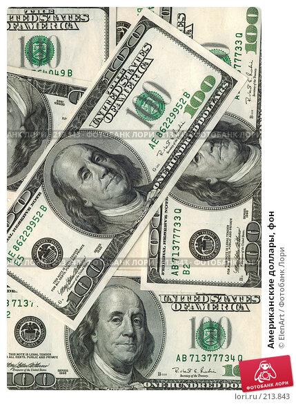 Американские доллары, фон, фото № 213843, снято 23 октября 2016 г. (c) ElenArt / Фотобанк Лори