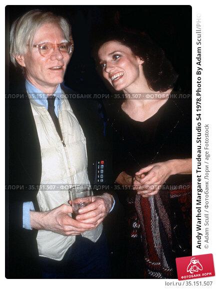 Andy Warhol Margaret Trudeau.Studio 54 1978.Photo By Adam Scull/PHOTOlink... Редакционное фото, фотограф Adam Scull / age Fotostock / Фотобанк Лори