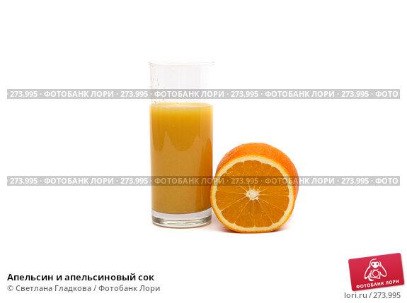 Апельсин и апельсиновый сок, фото № 273995, снято 10 марта 2008 г. (c) Cветлана Гладкова / Фотобанк Лори