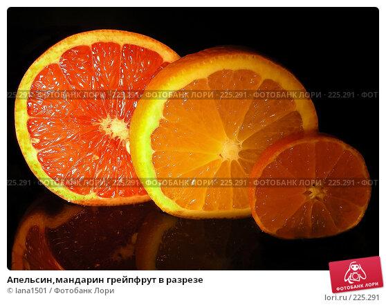 Апельсин,мандарин грейпфрут в разрезе, эксклюзивное фото № 225291, снято 15 декабря 2007 г. (c) lana1501 / Фотобанк Лори