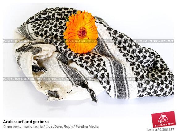 Купить «Arab scarf and gerbera», фото № 9306687, снято 23 июля 2019 г. (c) PantherMedia / Фотобанк Лори