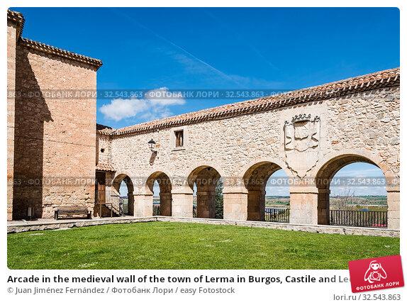 Купить «Arcade in the medieval wall of the town of Lerma in Burgos, Castile and Leon, Spain.», фото № 32543863, снято 16 апреля 2019 г. (c) easy Fotostock / Фотобанк Лори