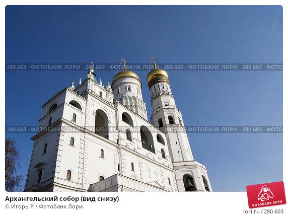 Архангельский собор (вид снизу), фото № 280603, снято 26 марта 2008 г. (c) Игорь Р / Фотобанк Лори