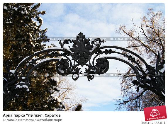 "Арка парка ""Липки"", Саратов, эксклюзивное фото № 163811, снято 14 декабря 2007 г. (c) Natalia Nemtseva / Фотобанк Лори"